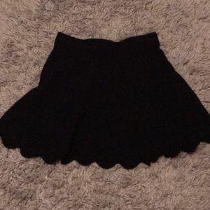 Black Flowy Skirt High Waisted